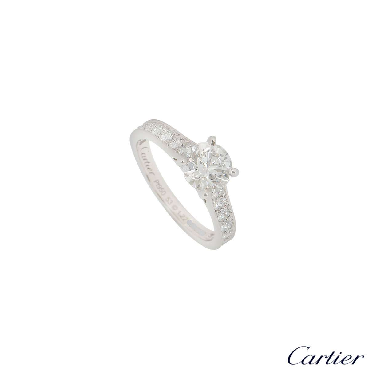 Cartier Platinum Diamond 1895 Solitaire Ring 1.22ct G/VVS1 XXX